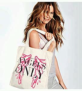 Victoria's Secret Victoria's Secret Angels Only Wings Canvas Tote Bag