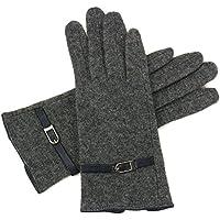 Alpine Swiss Womens Wool Gloves (Gray/Black)