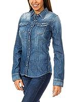 ZZ_MET Camisa Vaquera (Azul Denim)