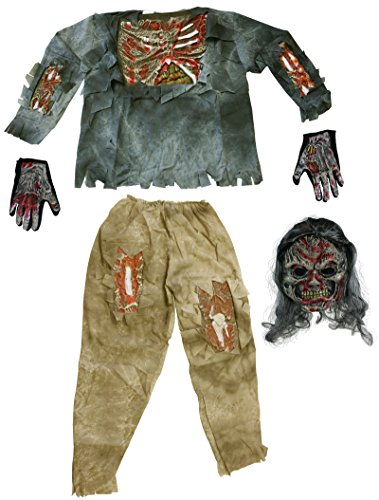 Fun World Complete Teen 3D Zombie Costume [1652]
