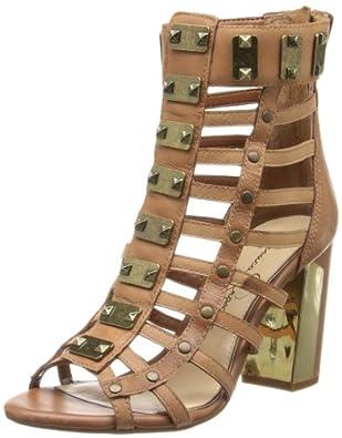 Jessica Simpson Women's Justinah Gladiator Sandal,Light Luggage Tumbled Leather,5.5 M US
