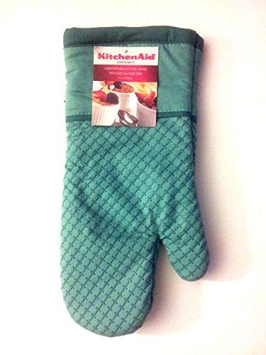 Kitchenaid oven mitt with textured silicone grip teal turquoise blue kitchen gear express - Kitchenaid oven gloves ...