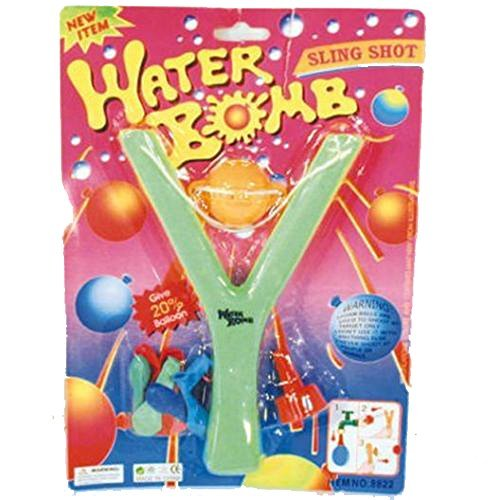 12 ( 1 Dozen ) Bulk Lot Of Water Bomb Toy Sling Shot With Filler And Balloons