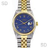 [ロレックス]ROLEX腕時計 デイトジャスト/ティファニー ブルー/ローマ/ティファニー Ref:16013 メンズ [アンティーク] [並行輸入品]