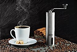 Modern Innovations Stainless Steel Manual Coffee Grinder -Hand Crank Mill with Adjustable Burr Design for Freshly Ground coffee for French Press & Turkish Coffee from Modern Innovations
