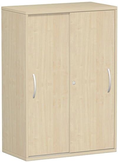 Armadio metallico esterno fondo 25mm, con piedini, chiudibile a chiave, 800x 425x 1182, acero/Acero