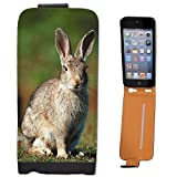 Rabbit On Grass Leather Flip Case Cover for Apple iPhone 5, iPhone 5S