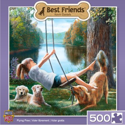 MasterPieces Best Friends Flying Free Jigsaw Puzzle, 500-Piece