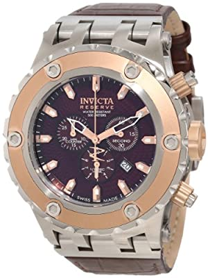 Invicta Men's 10083 Subaqua Reserve Chronograph Brown Textured Dial Watch