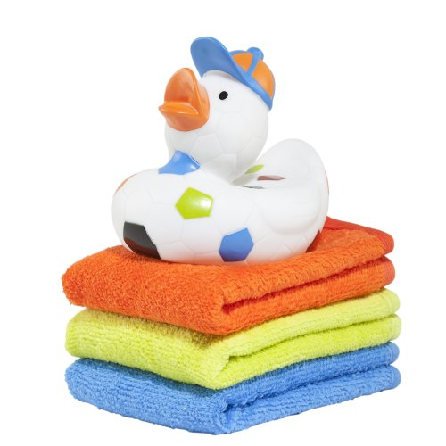 Elegant Baby Ducky and Washcloth Set