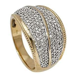 Bella Donna Damen-Ring 585 Gelbgold teilrhodiniert 180 Diamanten 18 904538