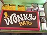 Willy Wonka gift box with popping chocolate candy bars includes novelty golden ticket in chocolate bar and mini tickets
