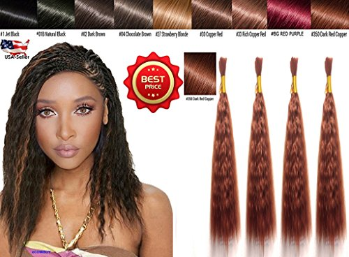 Wet N Wavy Bulk hair QUALITY HAIR Micro Braiding Super Bulk Style 2 Packs (4 Bundles) DEAL Length (18