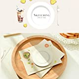 Great Value Desk Accessories 2pcs Unique Round Coffer Cup Mat Design Repeatable Sticky Notes White