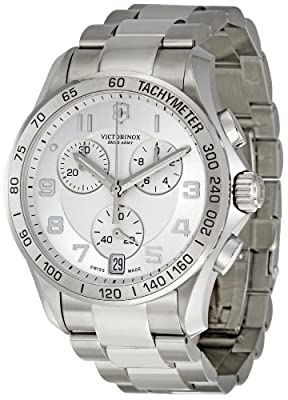 Men's 241499 Silver Dial Chronograph Watch from Victorinox Swiss Army