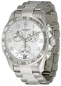 Victorinox Unisex 241499 Chrono Classic Analog Display Swiss Quartz Silver Watch
