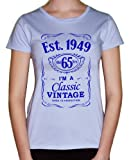 IiE, 65th Birthday, Est. 1949, Vintage year, Ladies Womens Girls T-shirt,