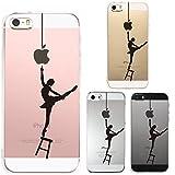 iPhone SE iPhone5S/5 対応 ハード クリア ケース 保護フィルム付 バレエ