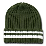 Decky Sweater Beanie Knit Beanie Cap (One Size, Olive Green)