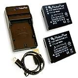 【 6ヶ月保証 】 パナソニック DMW-BLE9/DMW-BLG10 *2個 + USB充電器 セット 互換バッテリー Panasonic Lumix DMC-GF3 / DMC-GF5 / DMC-GF6 / DMC-LX100 ...Nucleus Power製(BLE9*2+充電器)