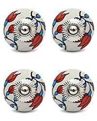 Knobs & Hooks FBK-156 Ceramic Cabinet Knob; Multi; (Set of 4 pieces)