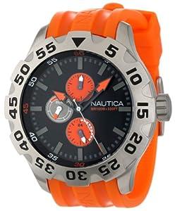 Nautica Men's N15565G BFD 100 Multifunction Black Dial Watch