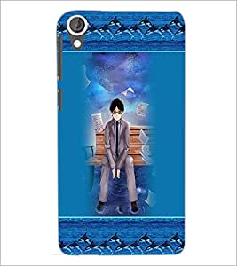 PrintDhaba Fantasy boy D-5715 Back Case Cover for HTC DESIRE 820 (Multi-Coloured)