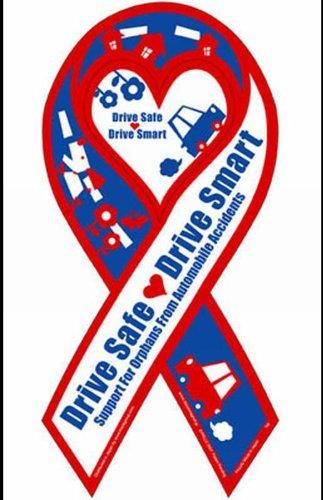 【リボンステッカー】ミニサイズ SC-DSDS 交通安全を願って