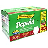 Depend Adjustable Underwear, Super Plus Absorbency, Large/Extra Large (44-64 Inches), 48 ct.
