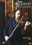 "Afficher ""Aaron Rosand, violoniste, Récital live at Mills College"""