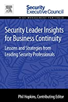 Security Leader Insights for Business Continuity Front Cover
