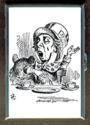 Alice in Wonderland Mad Hatter Laughing Stainless Steel ID or Cigarettes Case (King Size or 100mm)
