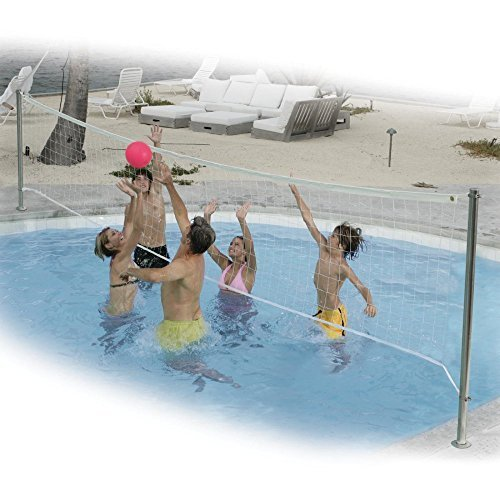 Dunnrite Stainless DeckVolley Swimming Pool Volleyball Set by Dunn Rite