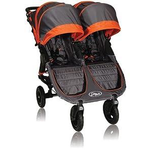 Baby Jogger City Mini GT Double Stroller, Shadow/Orange