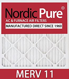 10x20x1 Nordic Pure MERV 11 Air Condition Furnace Filters Qty 12