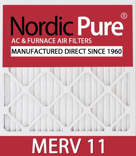 Nordic Pure 18x30x1M11-6 MERV 11 Air Condition Furnace Filter, Box of 6