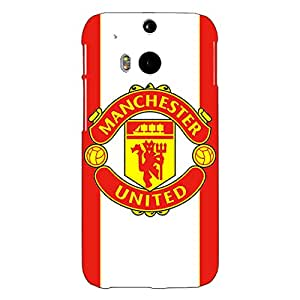 Jugaaduu Manchester United Back Cover Case For HTC One M8 Eye