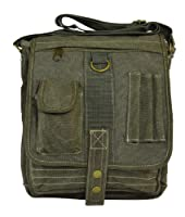 Classic Vintage Canvas Military Multi-purpose Messenger Organiser Crossbody Bag