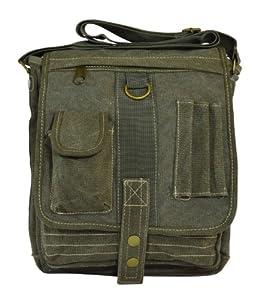 Classic Vintage Canvas Military Multi-purpose Messenger Organiser Crossbody Bag