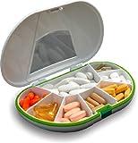 Vitamin Caddy Tablettenbox (15 x 10 x 3) cm, 7 Fächer und Dichtung
