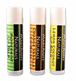 Mary Anns Naturals Organic Handcrafted Lip Balm 3 Pack Assorted Flavors