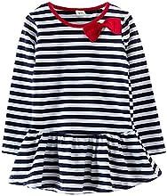 Guyizhai163 Little Girls39 Kids Clothing Bow Round Neck Tops Tutu Dress
