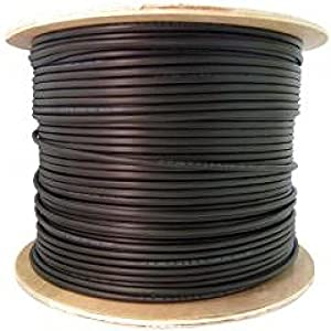 USE-2 Wire Spool for Solar, Single-Insulated 10 AWG, 7-Strand, Black by UL