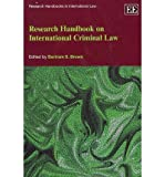 img - for [(Research Handbook on International Criminal Law )] [Author: Bartram S. Brown] [Sep-2012] book / textbook / text book