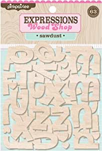 Sawdust Wood Shop Alphabets (pink Paislee)