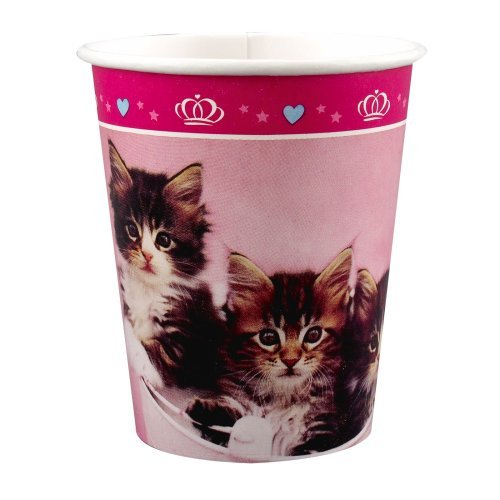 rachaelhale Glamour Cats 9 oz. Cups (8) Party Supplies