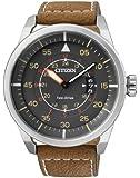 Citizen Herren-Armbanduhr XL Analog Quarz Leder AW1360-12H
