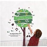 UberLyfe Happy Tree Wall Sticker Size 3 (Wall Covering Area: 110cm X 70cm) - WS-1497
