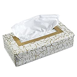 Ecoleatherette Handcrafted Eco-Friendly Napkin box Paper Tissue Holder box (Crackle. Design)