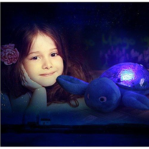 Children Baby Sea Elf Music Projector Led Night Light Sleep Helper
